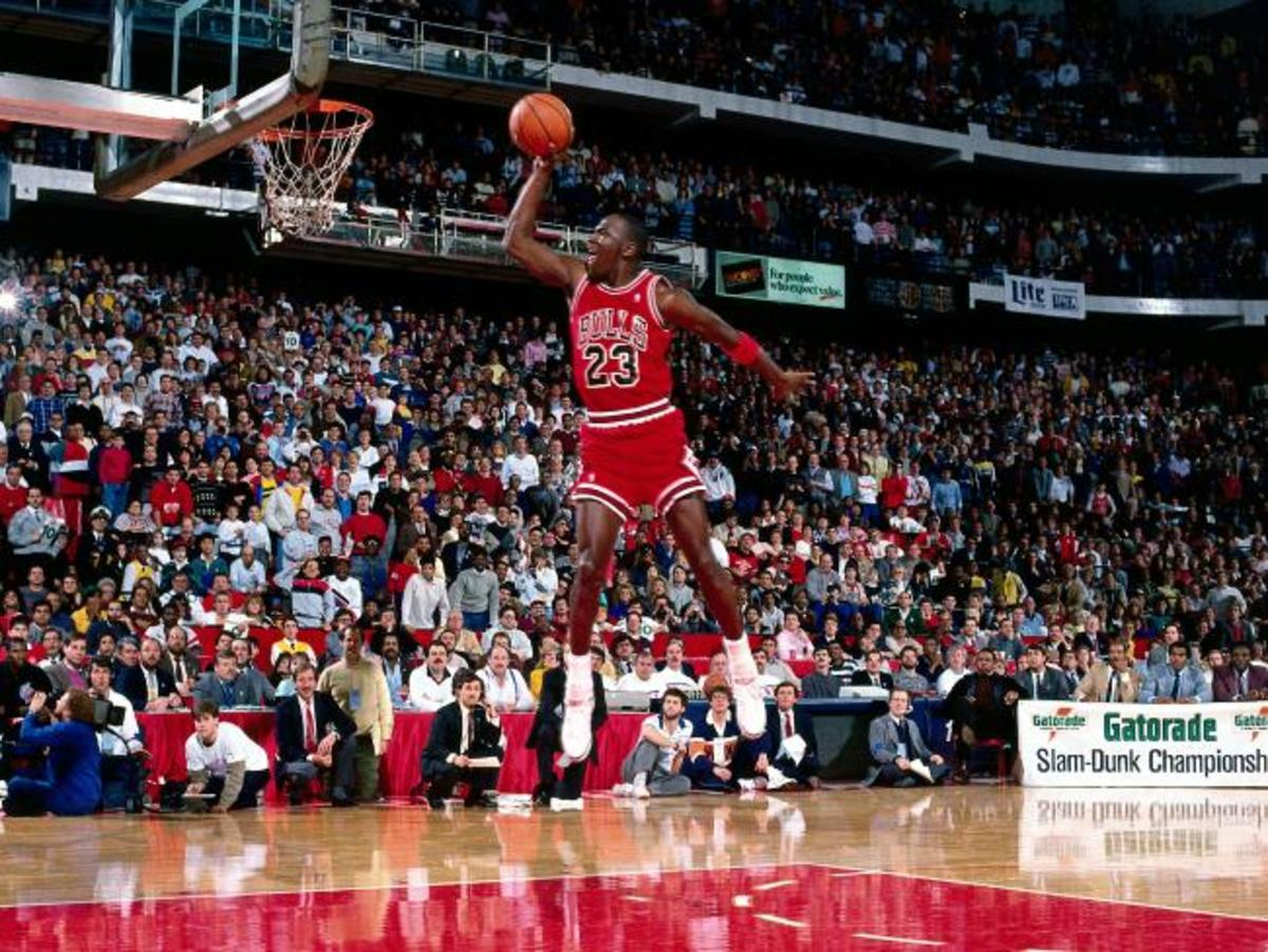 "Michael Jordan idolized ""Doctor J"" Julius Erving and used his free throw line dunk to win the 1988 Slam Dunk Contest."