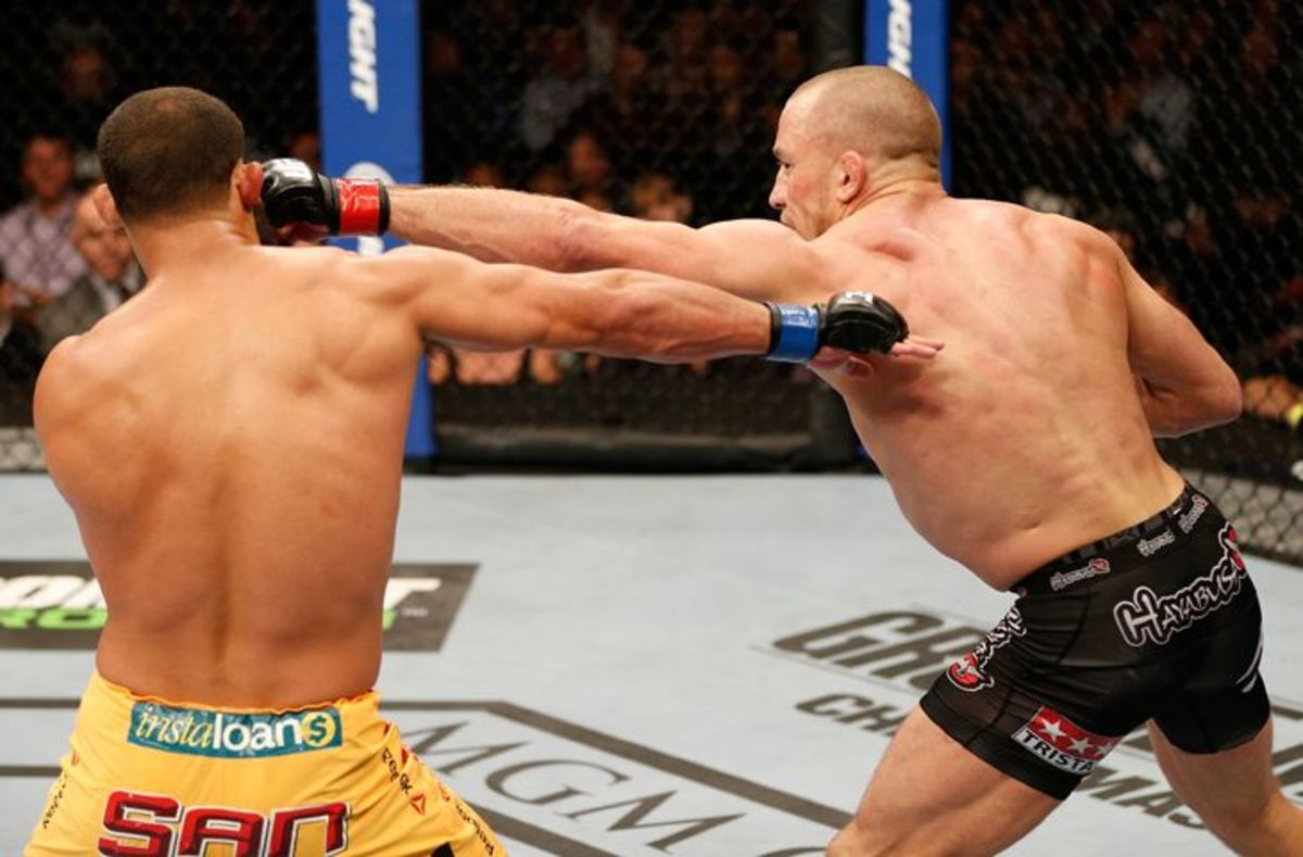 GSP's reach contributes to him having one of MMA's best jabs.