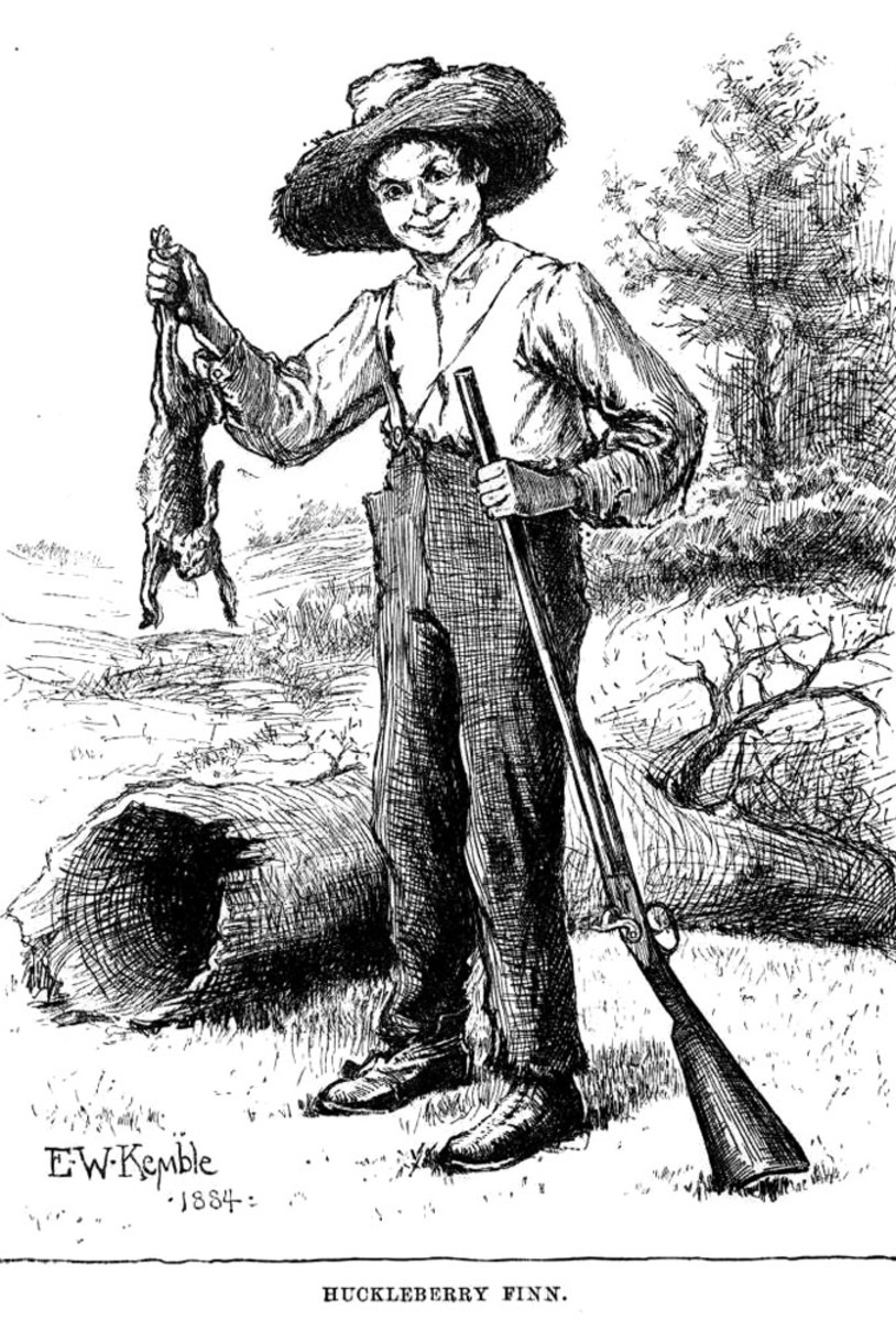 Huckleberry Finn knew that spitting brought good luck