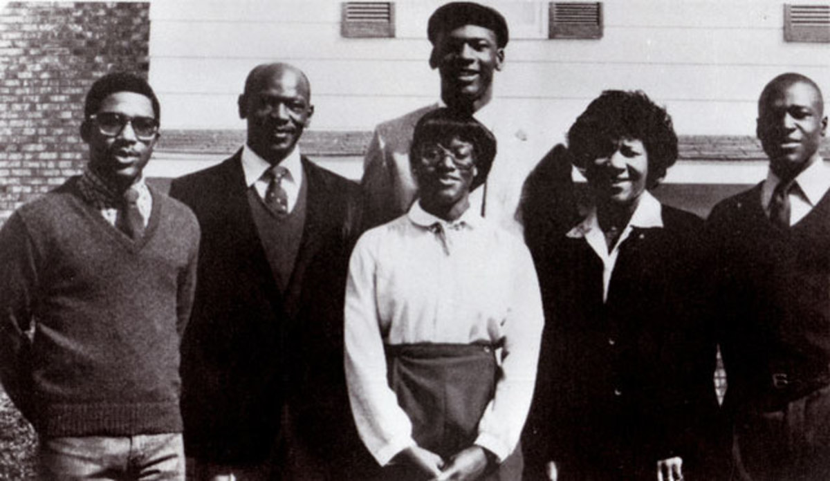 Michael Jordan with his parents and siblings.