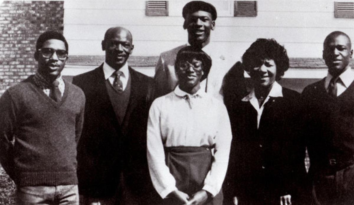 Michael Jordan with his parents and siblings.