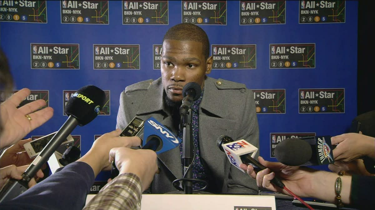 Durant started to struggle with the media.