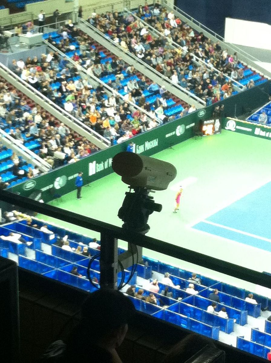 Hawk-Eye technology allows players to challenge umpire calls they believe are incorrect.
