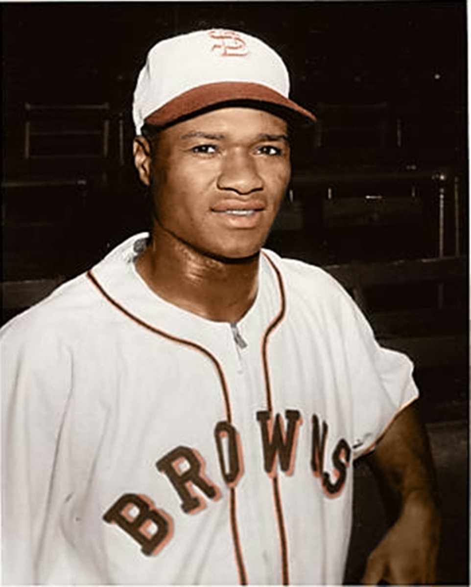 Hank Thompson in 1947 when he became the St. Louis Browns' first black player and MLB's third.