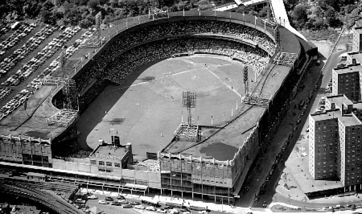 Aerial shot of the Polo Grounds, early 50s.