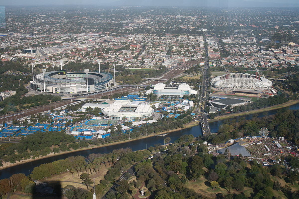 The current home of the Australian Open, Melbourne Park.