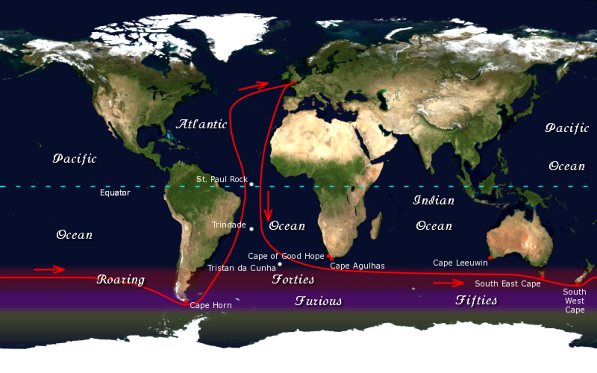 Golden Globe Race route.