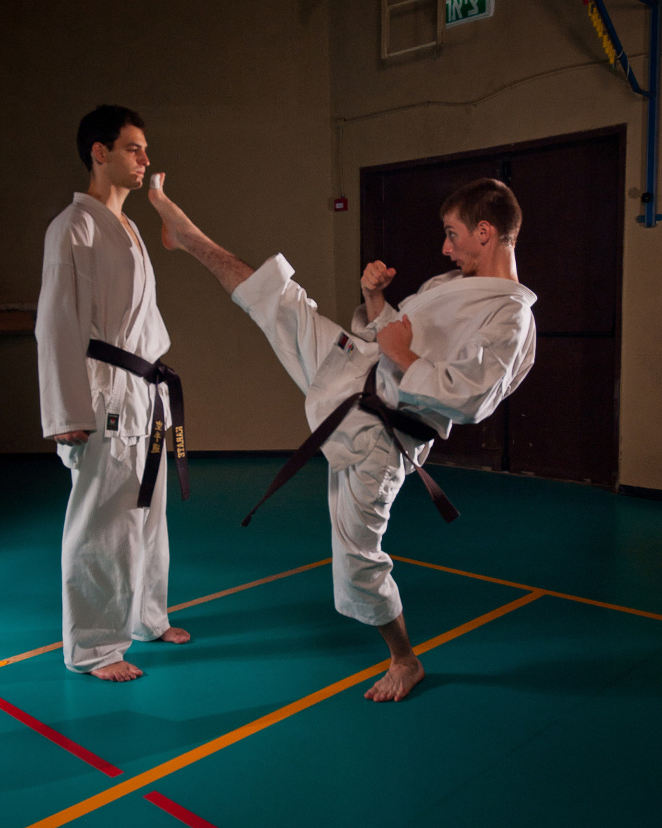 To practice martial arts, you must be focused and aware.