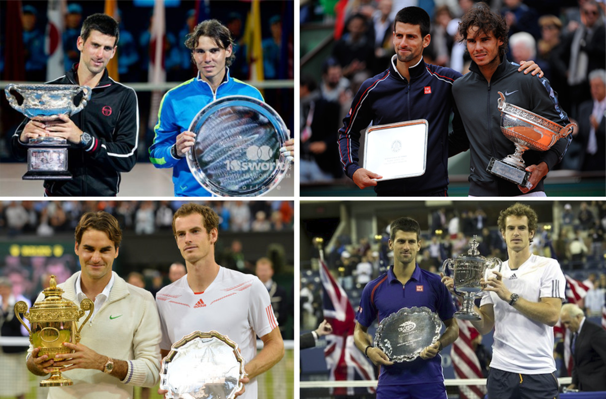 2012 saw each of the Big Four split the four Grand Slam titles among them for the first time, as well as filling all of the finalist berths at each tournament.