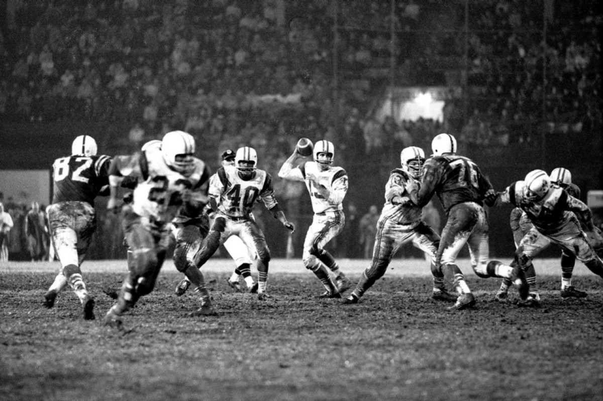 The New England Patriots, then known as the Boston Patriots, didn't appear in an AFL Championship game between 1963 - 1973.