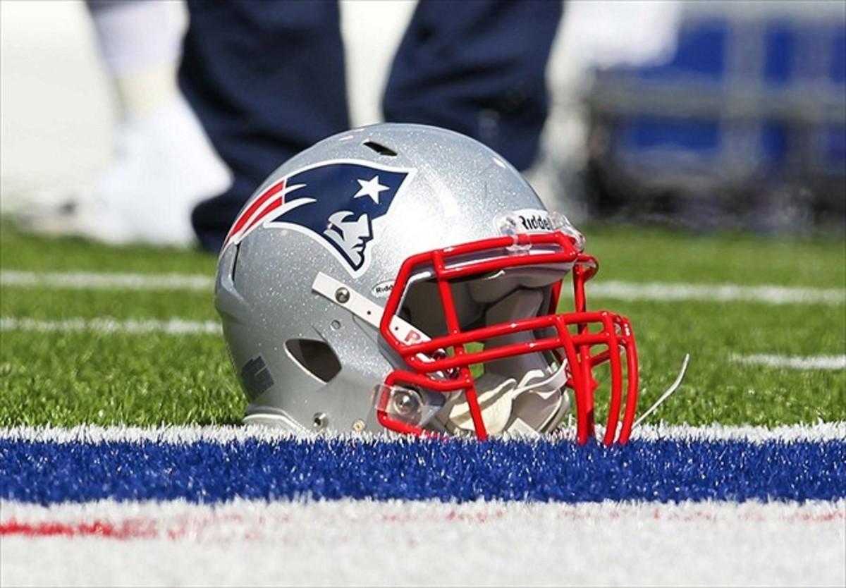 A Patriots helmet.