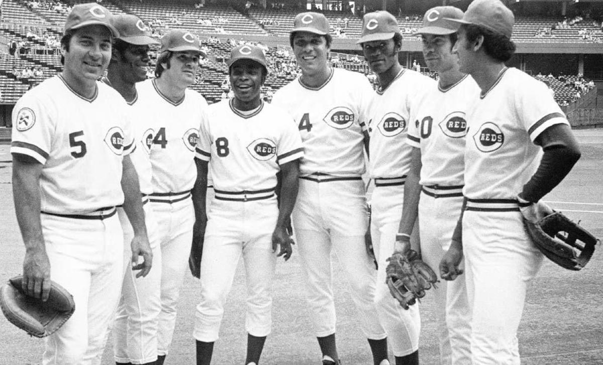 The Big Red Machine: Bench, Griffey, Rose, Morgan, Perez, Foster, Geronimo, Concepcion.