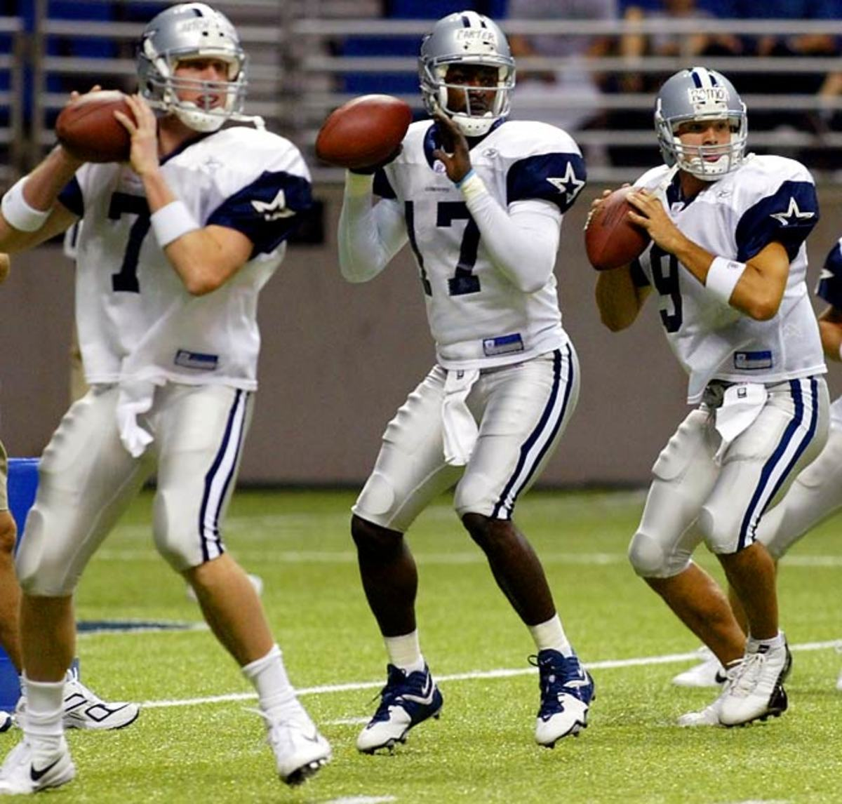 From left to right: Drew Henson, Quincy Carter, and Tony Romo.