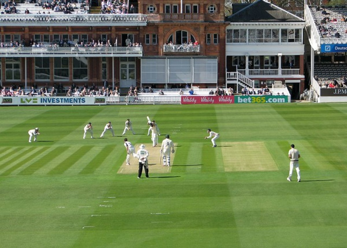The hallowed pitch at Lord's.
