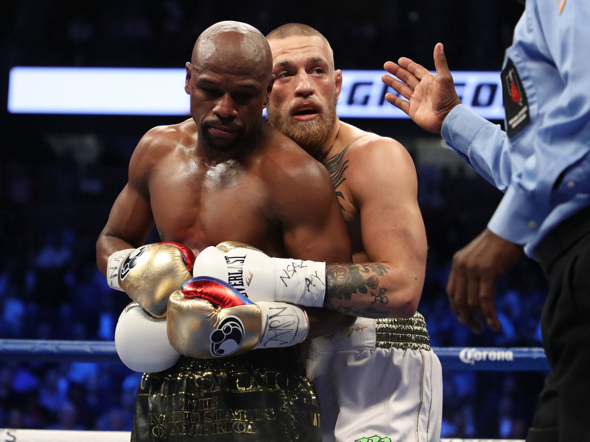 Several times during the match, McGregor went for a hold or strikes to the back of the head when Mayweather turned his back. He may have trained for months as a boxer, but Connor's body still reacted with MMA.