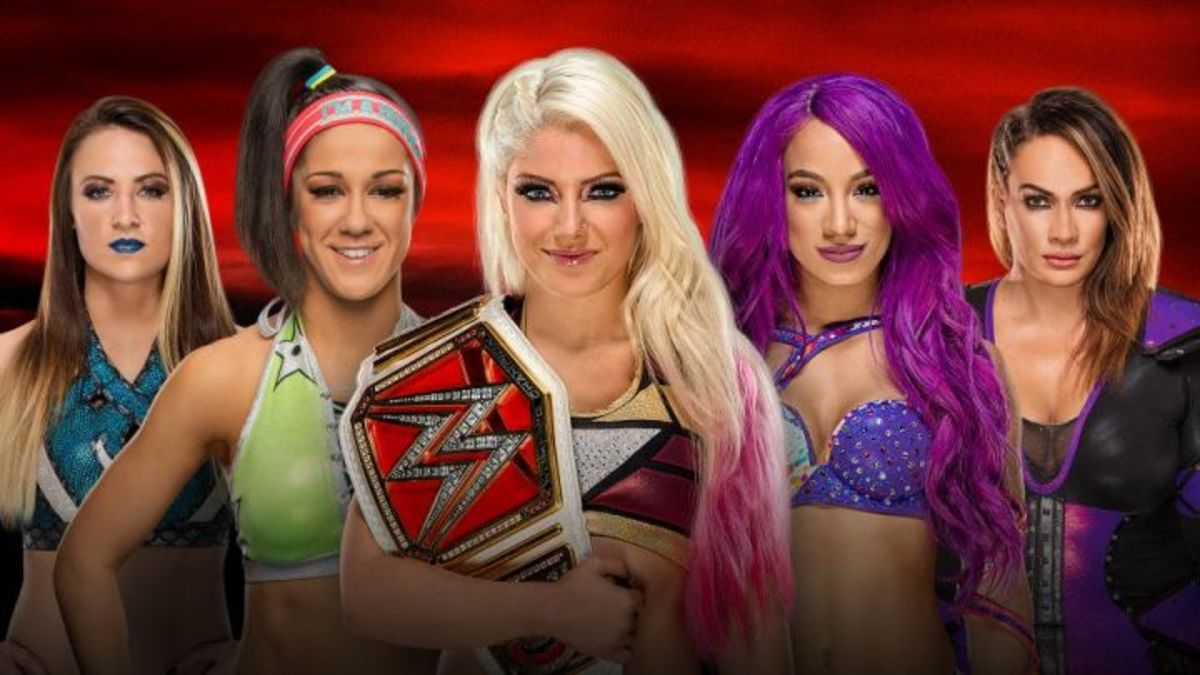 Alexa Bliss vs. Bayley vs. Sasha Banks vs. Nia Jax vs. Emma