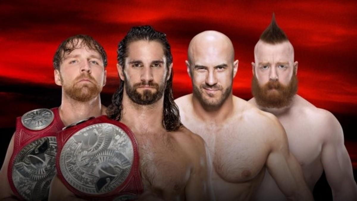 Dean Ambrose & Seth Rollins vs. Cesaro & Sheamus