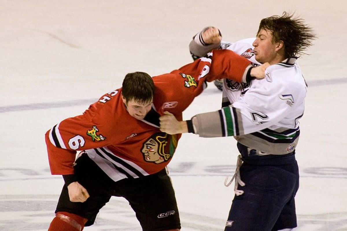 Ice Hockey Fight.