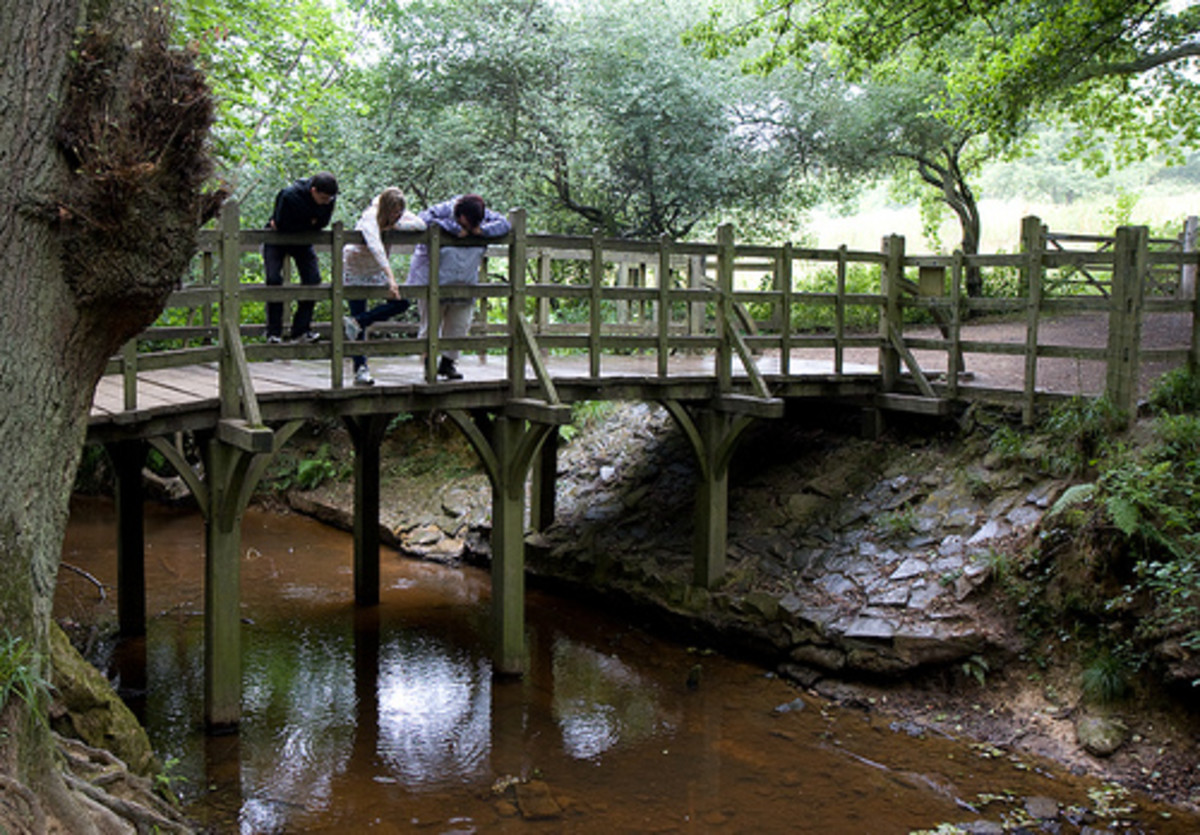 This is the original Poohsticks Bridge.