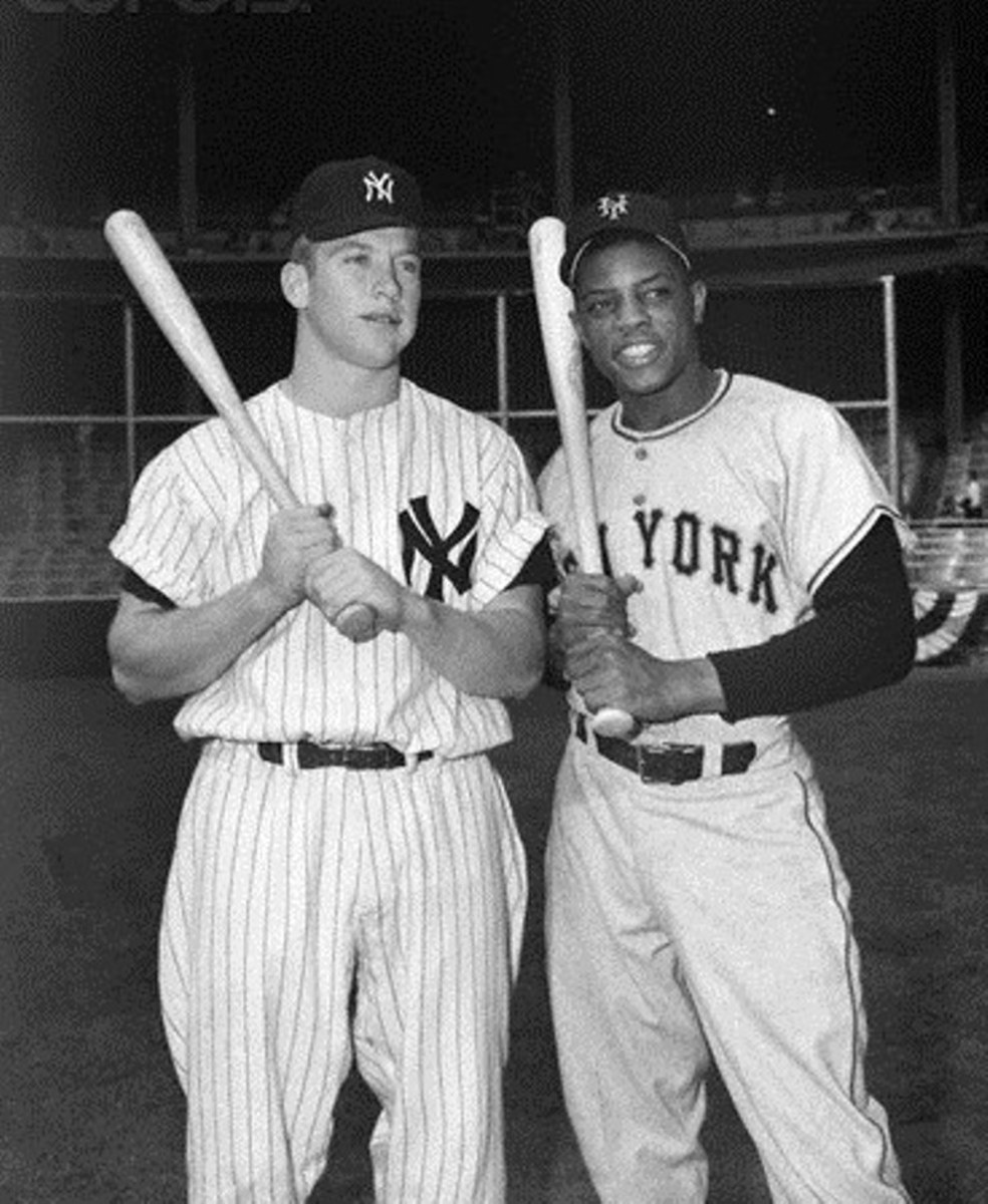 Mickey and Willie just prior to Game 1.
