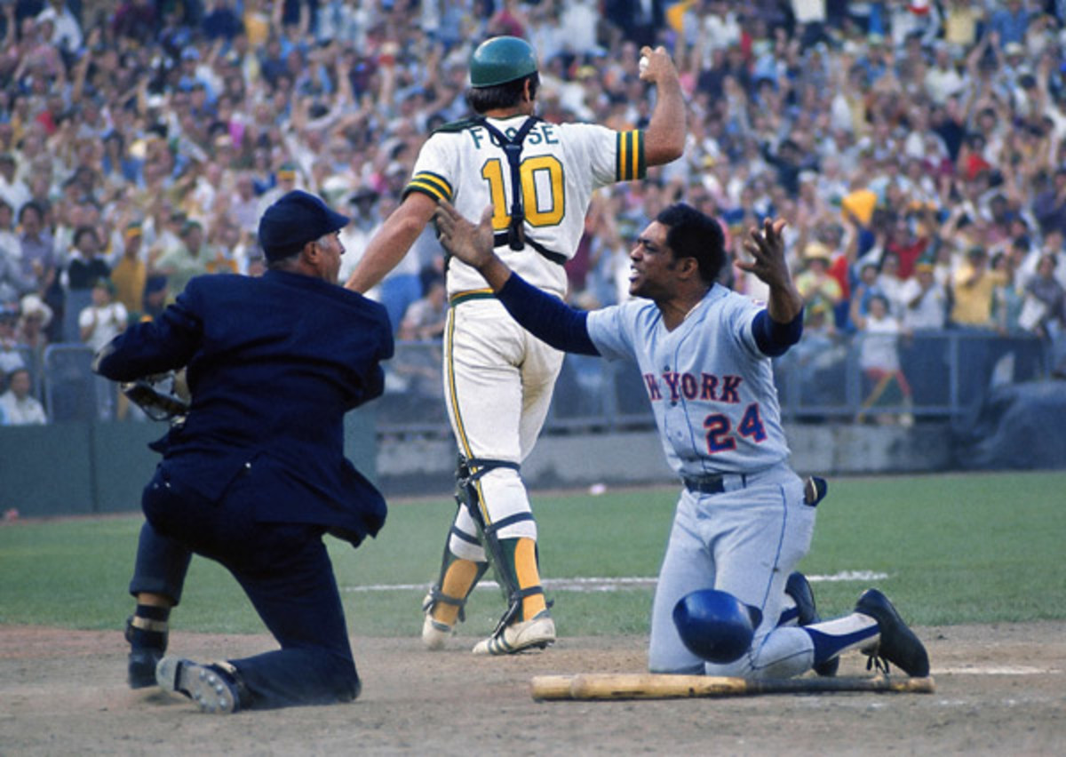 Willie imploring the umpire during the '73 Series.