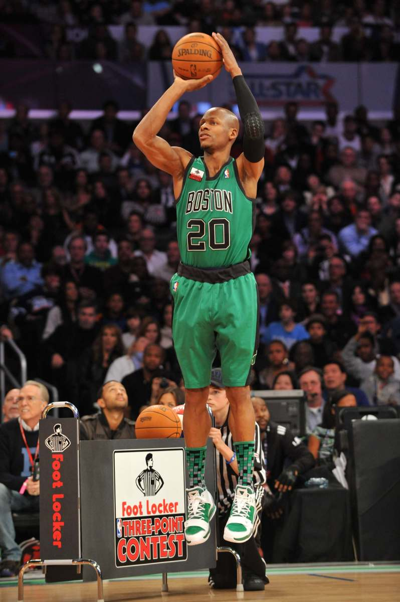Ray Allen joined the Three Point Shootout during his time as a Celtic.