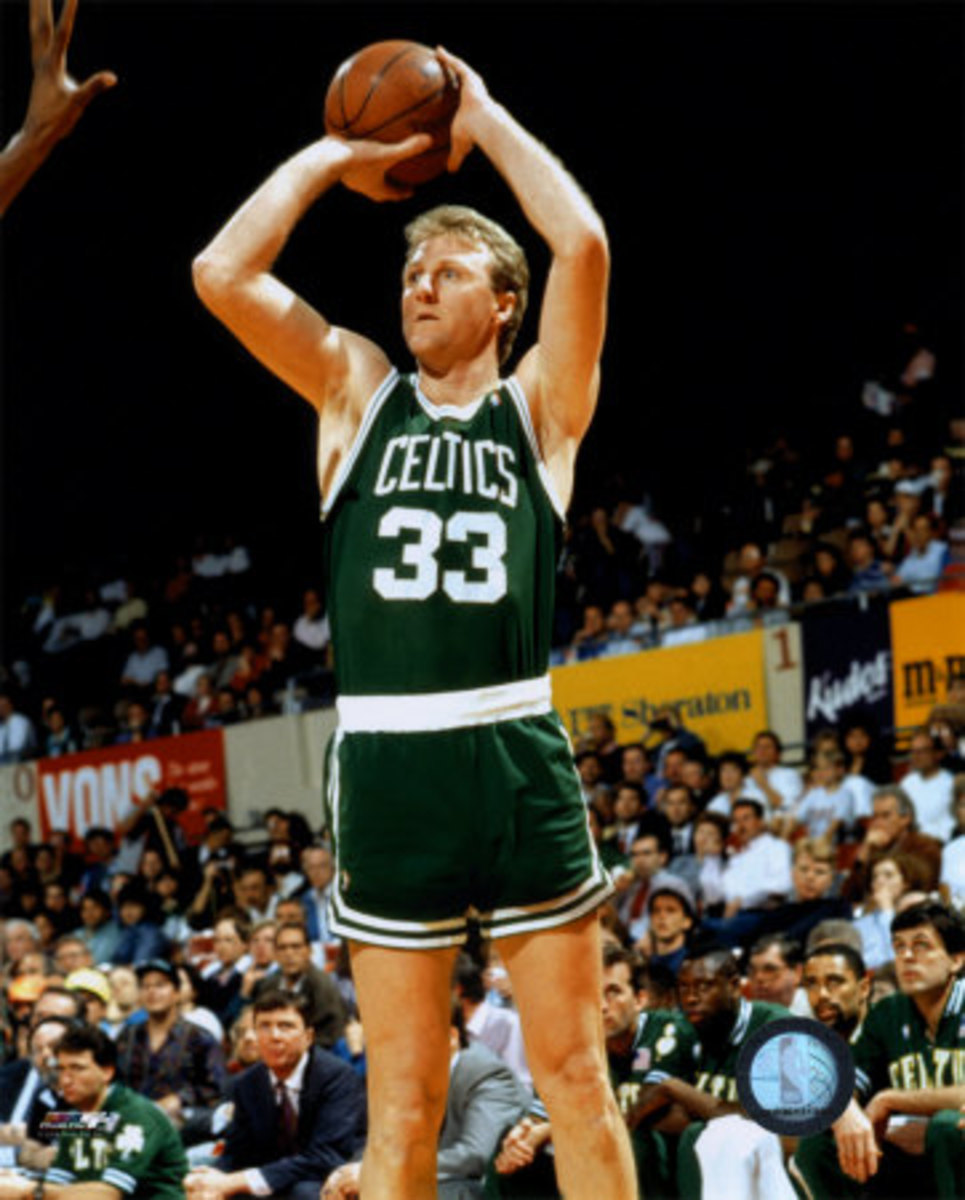 Larry Bird was one of the deadliest shooters in his heyday.