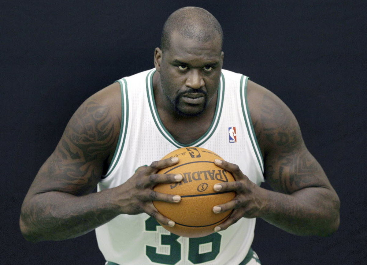 Shaq won three consecutive championships with the Los Angeles Lakers.