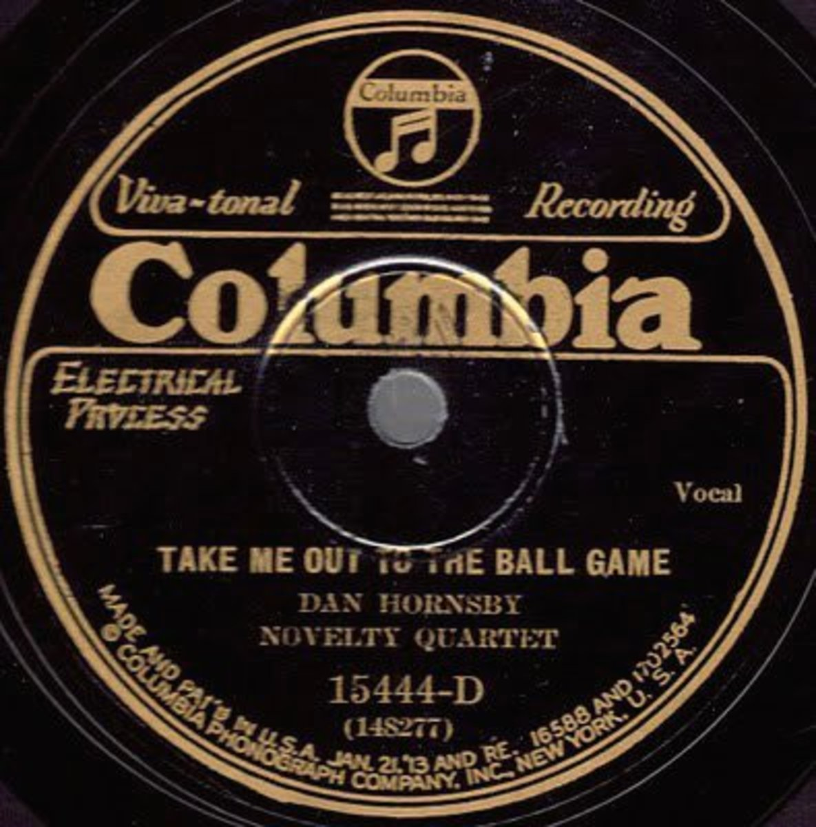 """Take Me Out To the Ballgame,"" became the most popular song of 1908."
