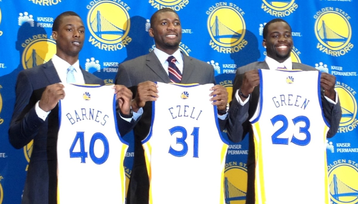 The Warriors struck gold and scored three solid picks in 2012 with Harrison Barnes, Festus Ezeli and Draymond Green.