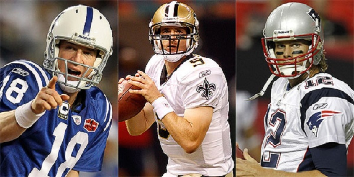 Manning, Brees, and Brady