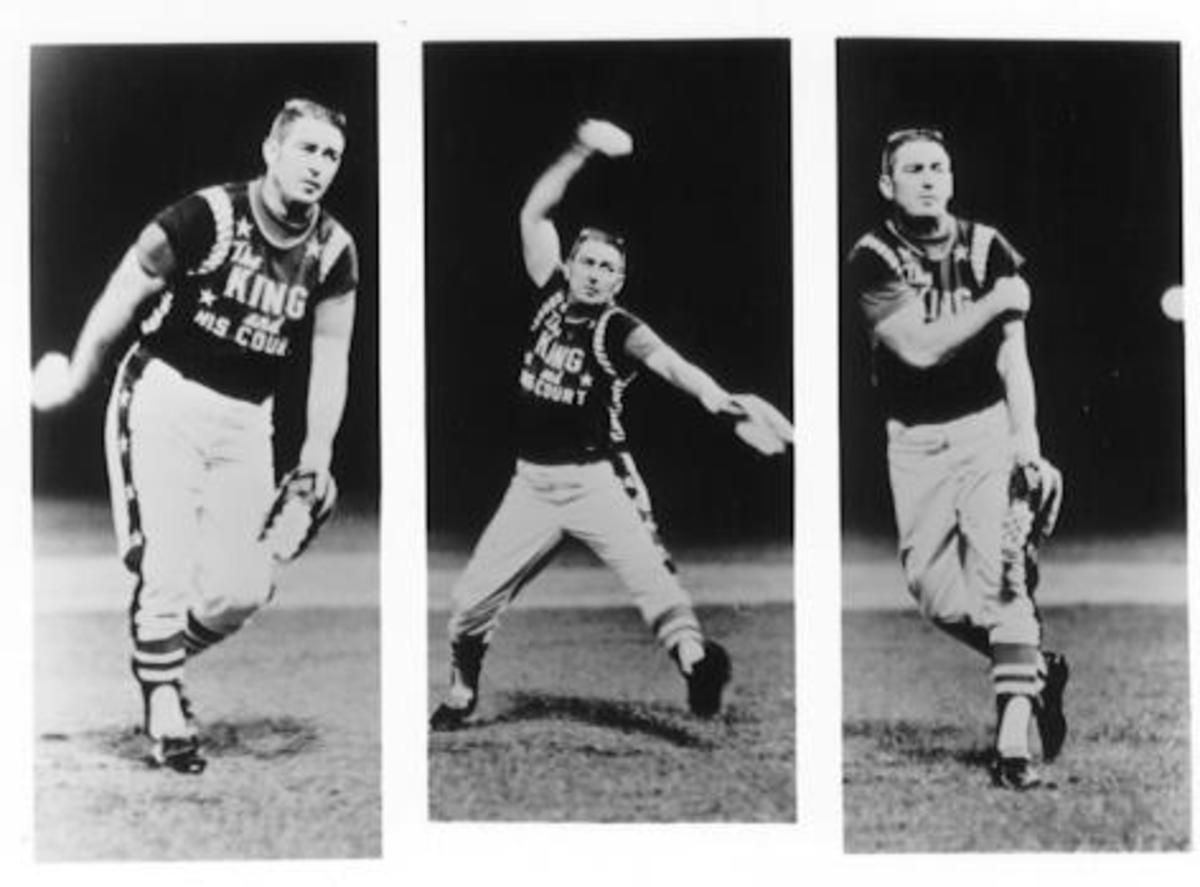 Eddie Feigner's pitching style.