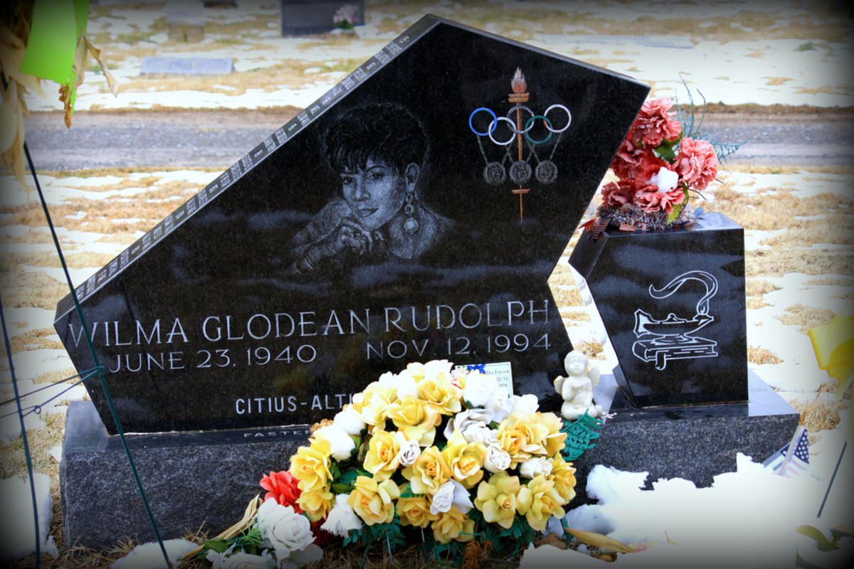 Wilma Rudolph's grave marker