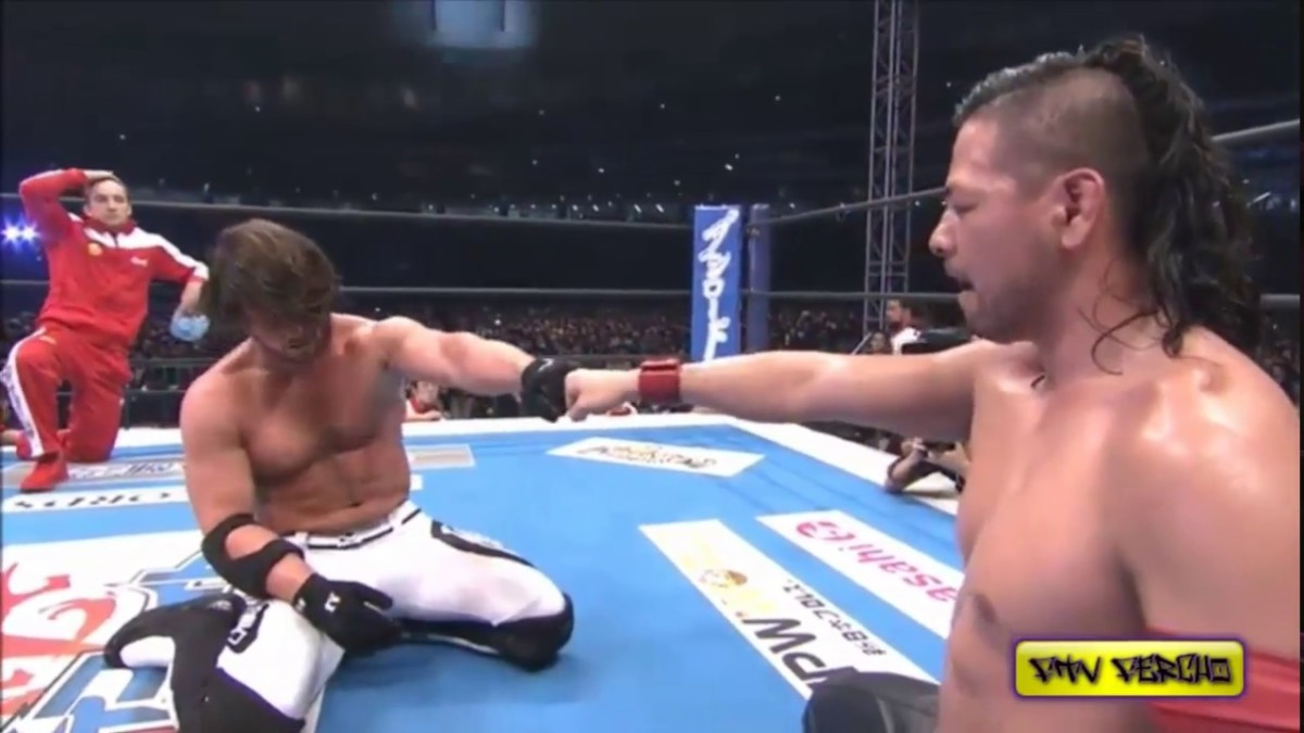 AJ Styles vs Shinsuke Nakamura at Wrestle Kingdom 10 (2016). They have been unable to recreate the magic of that match in WWE.