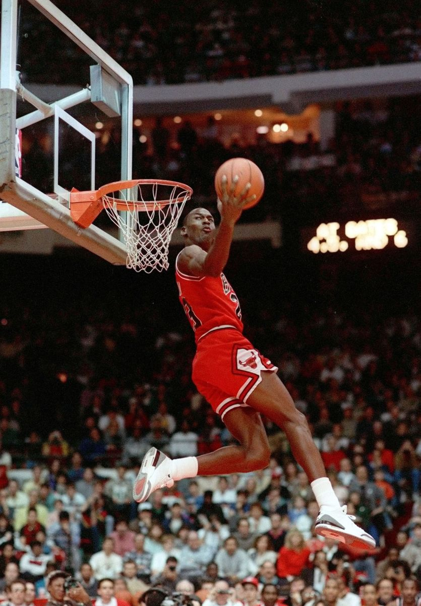 Michael Jordan turned the the Slam Dunk Competition into his own personal showcase.