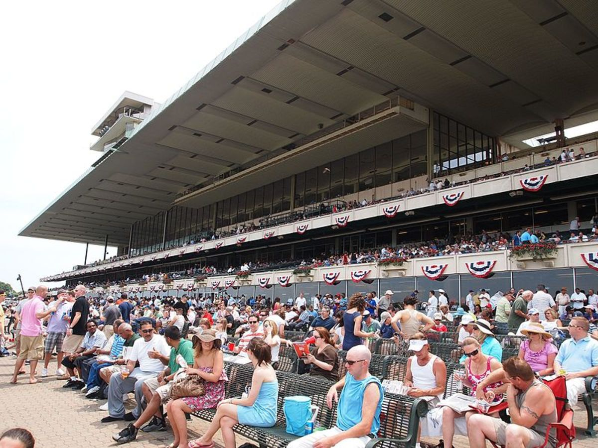 When a Triple Crown is on the line, the Belmont Grand Stand is packed