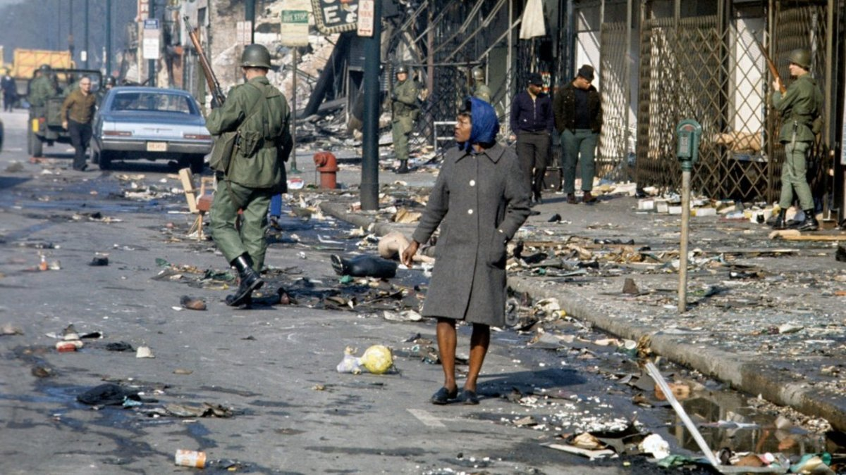 The aftermath of riots in Richmond, VA.