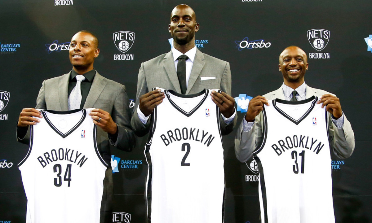 Brooklyn trades a slew of draft picks and fringe players for the Hall of Fame duo of Paul Pierce and Kevin Garnett.