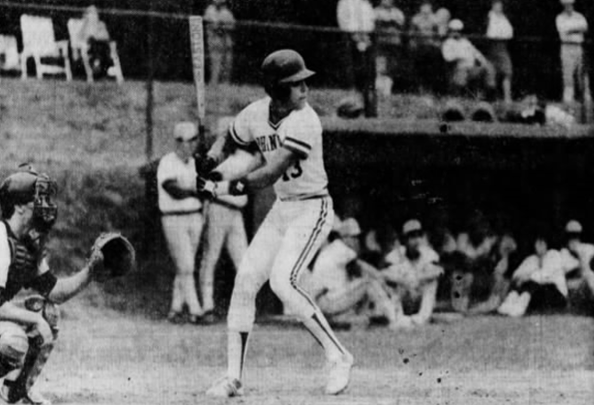 Mike Piazza, seen here hitting as a junior for Phoenixville High School near Philadelphia, hit 23 home runs during his high school career.