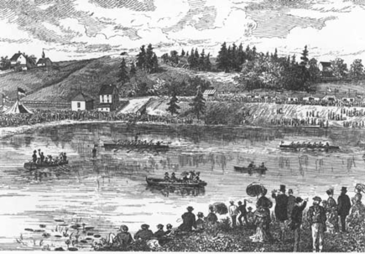 Illustration of the Royal St. John's Regatta, from Canadian Illustrated News, 1875.
