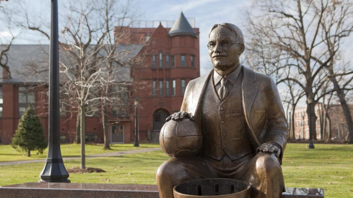 James Naismith statue.