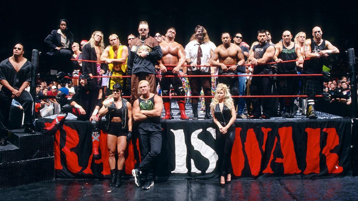 A file photo of some of the top stars back in WWE/WWF's 'Attitude Era.'