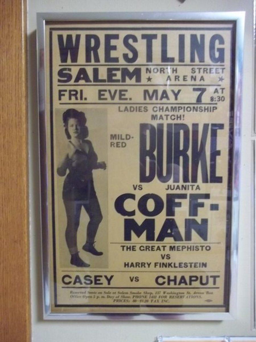 Poster for Mildred Burke wrestling match