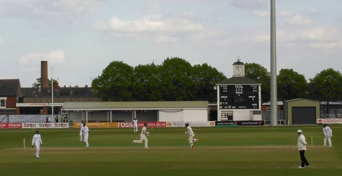 A match in progress at Grace Road