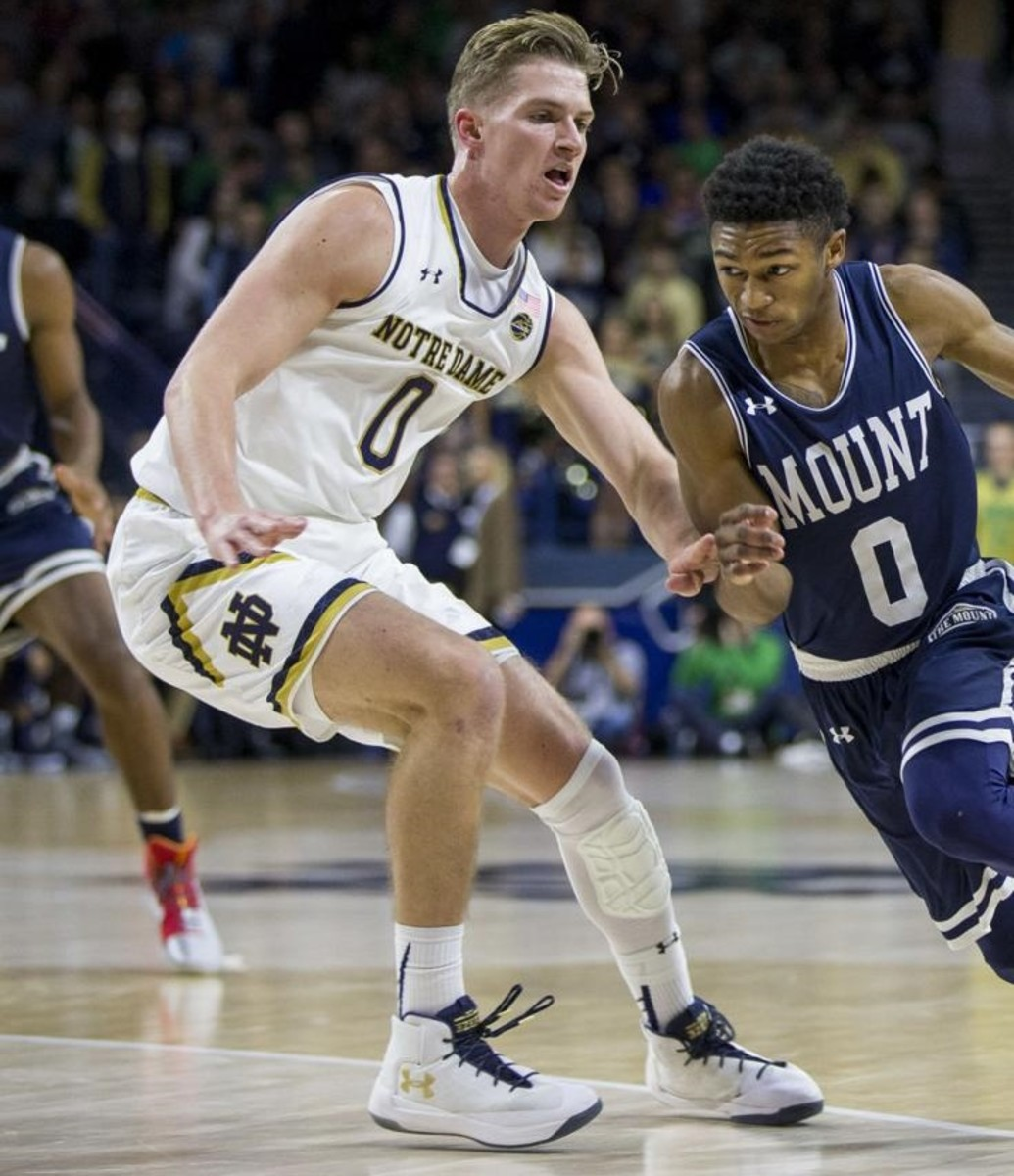Rex Pflueger's return to the court will be a welcome sight for the Irish.