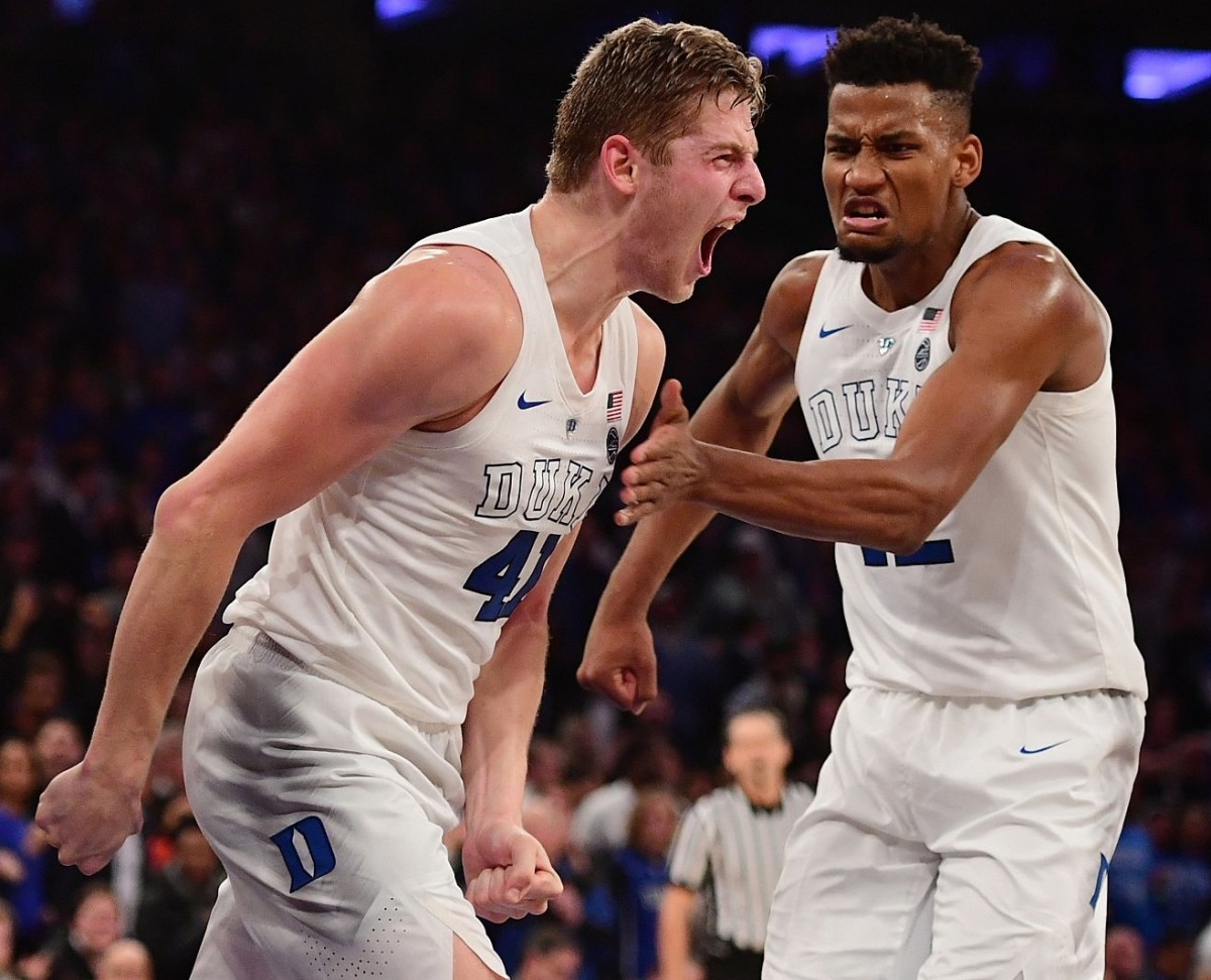Jack White and Javin DeLaurier will provide defensive intensity for the Blue Devils.