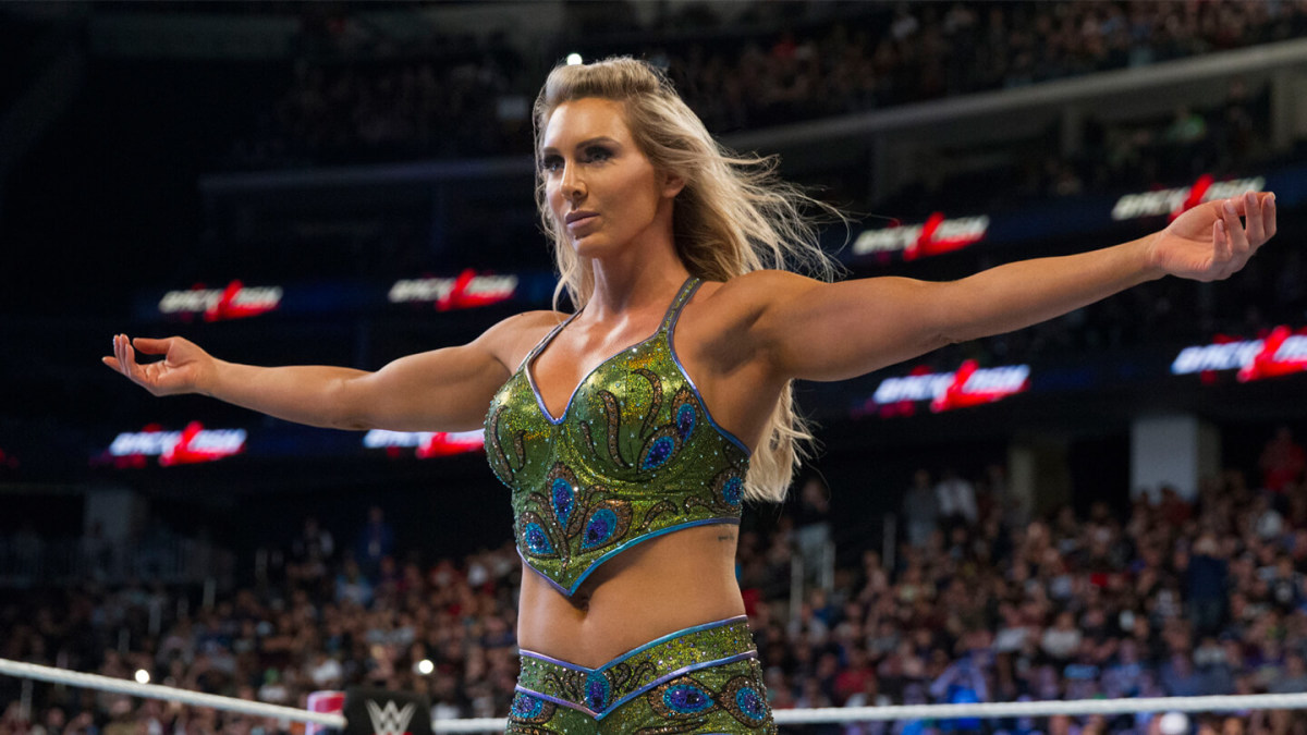 Charlotte Flair at Backlash 2018.