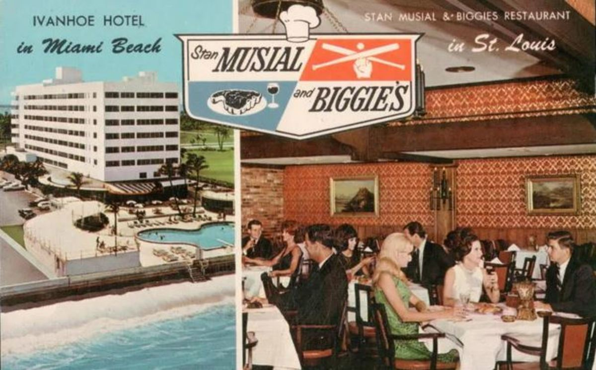 Postcard showing two of Stan's business ventures.