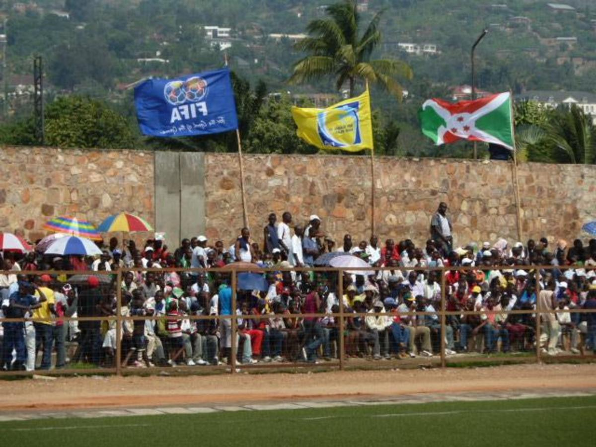 Fans attend a 2012 Africa Cup of Nations qualification match at Stade Prince Louis Rwagasore in Bujumbura, Burundi on Sept. 4, 2011. The match between Burundi and Benin ended 1-1.