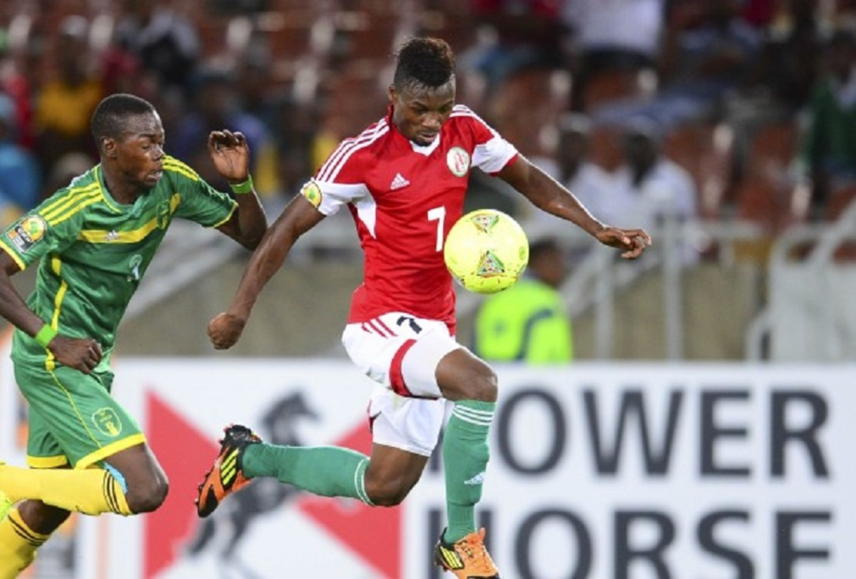 Fiston Abdul Razak is in action during a 2019 Africa Cup of Nations qualifier against South Sudan on Nov. 16, 2018. With 19 goals as of Sept. 8, 2019, Abdul Razak is Burundi's all-time leading goalscorer.